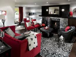 Red Black And White Living Room Decorating Ideas Black Grey And - Red living room decor