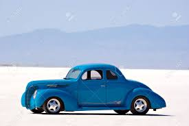 Old Classic Cars - an old classic car on the bonneville salt flats stock photo