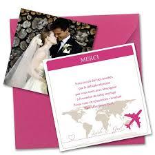 modele remerciement mariage remerciements mariage voyage