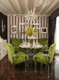 Velvet Dining Room Chairs Green Velvet And Lucite Dining Chairs Real Houses Of The Bay Area