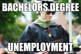 Funny Graduation Memes - bachelors degree unemployment new college graduate quickmeme