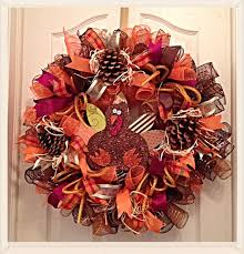 thanksgiving turkey deco mesh wreath turkey deco mesh