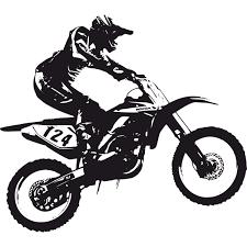 motocross bike graphics dirt bike scrambler wall deca kids decor ideas pinterest
