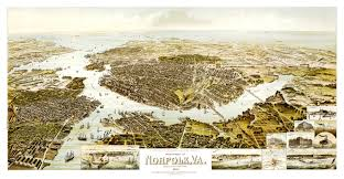 Virginia Beach Maps by Old Map Of Norfolk Virginia And Surrounding Areas In 1892