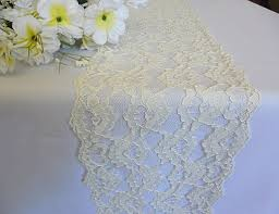 Lace Table Runner Wedding Lace Runner Ivory Italian Lace
