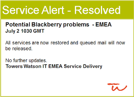 Outage Notification Template it outage notification templates at towers watson snapcomms