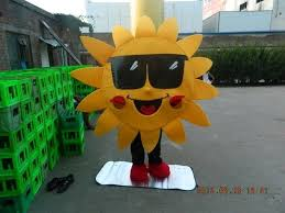 Halloween Mascot Costumes Halloween Sun Mascot Costume Suit Fancy Dress Cosplay Xmas