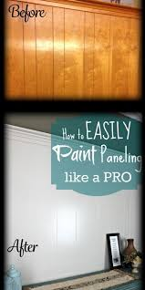 painting paneling in basement diy home repair hack easily paint over wood paneling woods house
