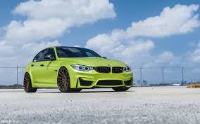 luxury bmw m3 lime green chrome bmw m3 with velos designwerks wheels