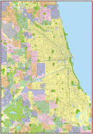 Chicago Maps by Milwaukee Map Service Illinois Wall Maps