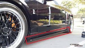 2004 Mustang Cobra Black 2003 2004 Mustang Cobra Terminator Black Fiberglass Side Skirt