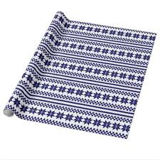 navy blue wrapping paper white navy blue nordic christmas sweater pattern wrapping paper