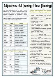 142 free esl word formation worksheets
