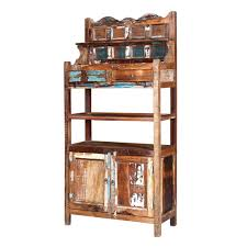 reclaimed wood wall cabinet farmhouse reclaimed wood 72 baker s rack wall cabinet