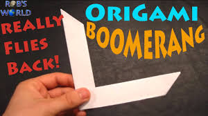 How Do You Make A Paper Boomerang - how to make an origami boomerang rob s world