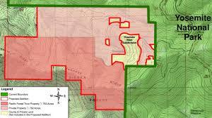 Map Of Yosemite Feinstein Costa Introduce Bills To Expand Yosemite National Park