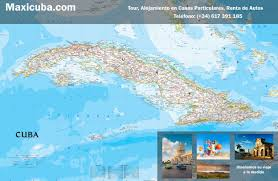 Map Cuba Cuban Maps For Free Downloadmaxicuba Booking Accommodation Houses