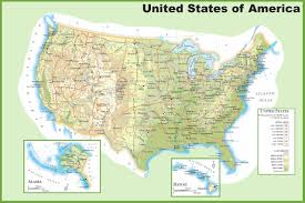 Blank Usa Map by Geography Blog Physical Map Of The United States Of America