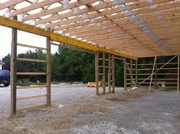 garage 48x72 with storage loft milmar pole buildings