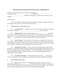free missouri month to month rental agreement template word