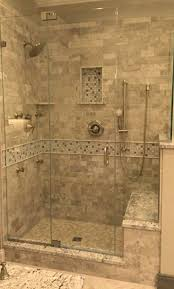 Bathroom Shower With Seat Shower Walk In Shower With Bathroom Marble Tile Walls Glass