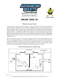 grease trap hydraulic engineering environmental engineering