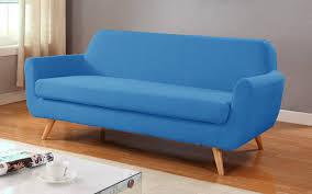 Modern Blue Sofa Fred Mid Century Modern Linen Sofa Sofamania