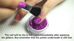 tutorial and tips bys glitter for nails youtube