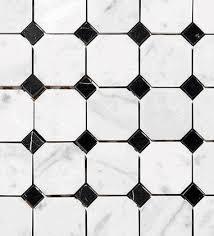 carrara venato 2 octagon polished mosaic tile