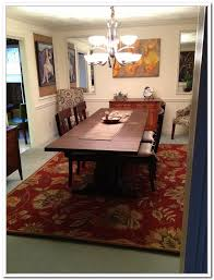 Dining Room Rug Ideas by Dining Tables What Size Rug Under A 48 Round Table Rug Under