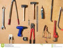 tool wall stock photo image of wrench shop board different