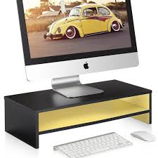 Desk Top Organizer by Fitueyes 1 Tier Computer Monitor Riser 21 3
