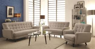 3 Pc Living Room Set Maguire Contemporary 3 Piece Living Room Set With Contrast Buttons
