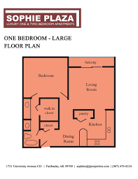 One Bedroom Apartment Floor Plans by Fairbanks Alaska Apartments Sophie Plaza Maps And Floor Plans