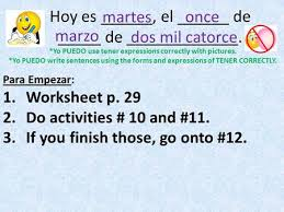 expressions with tener ppt descargar
