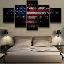 aliexpress com buy 5 pieces canvas painting patriotic bald eagle