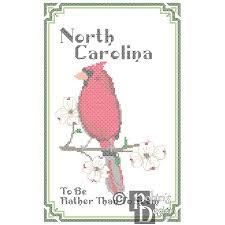 carolina state bird flower and motto cross stitch pattern pdf