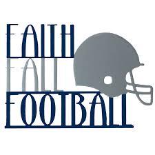 faith fall football custom ornament for wreath kaktos rose