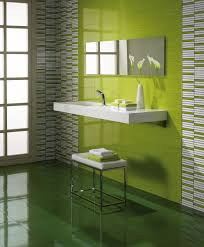 bright and light lime green wall tiles perfect for a bathroom