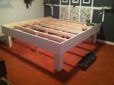 Build Platform Bed Storage Under by Diy Hand Built King Sized Wood Platform Bed See Post For