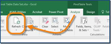how to update pivot table automatically refresh pivot tables in excel