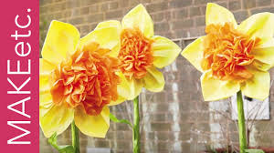 how to make a tissue paper daffodil with juliet carr youtube