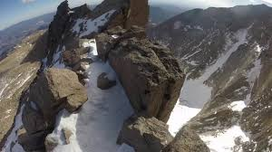 longs peak winter ascent cables route youtube