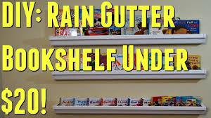 diy rain gutter bookshelf under 20 save them coins youtube