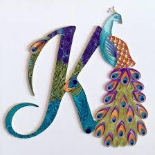 quilling initial peacock k craft crafts u0026 more crafts