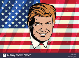 comic book color donald trump president of the united states retro comic book