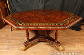 Octagon Patio Table by English Regency Octagonal Centre Table Dining Brass Inlay Ebay