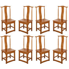 set of eight chinese dining room chairs in ming style for sale at