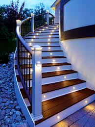 Home Exterior Design Advice Accessories Scenic Elegant Led Outdoor Stairs Lighting Design