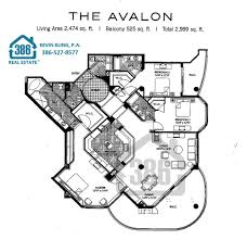 Villa Floor Plan by Ocean Villas Condos Floor Plans Daytona Beach Shores